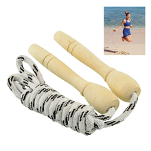 Skipping Rope Motion Wood Handle Children Kid Fitness Equipment Training Practice Speed Jump Adjustable Weighted Exercise