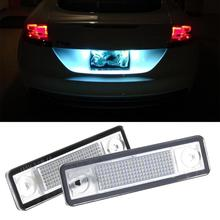 2pcs 3528SMD 18LED License Plate Light Lamps for Vauxhall OPEL Astra F/G Auto Car Light Assembly High Quality Car Accessories(China)