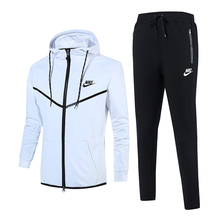 2017 New Hoodies Men Sweatshirts Set Spring Sports Suit Mens Sweat Sporting Suits Tracksuits Jacket+Pants Big Size L-4XL N1718(China)