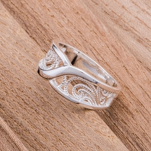 rounded hollow shiny Wholesale silver plated ring 925 Fashion jewelry Silver Ring MLOFNXAC(China)