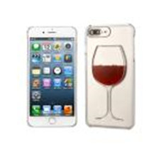 2017 New Brand So COOL fashion cover youth Red Wine Glass Cocktail Moving Liquid 3D Gel Case Cover For iPhone 7 Plus 5.5Inch(China)
