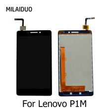 "Buy Lenovo VIBE P1m LCD Screen Display Touch Screen Digitizer Assembly Replacement Parts Frame Original 5.0"" Black White for $18.39 in AliExpress store"