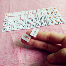 Tanduzi Cute Miniature Games Poker Mini Dollhouse Playing Cards Miniature 1:12 For Dolls Accessory Home Decoration