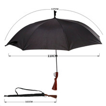 Large rifle straight black umbrella new creative umbrella(China)
