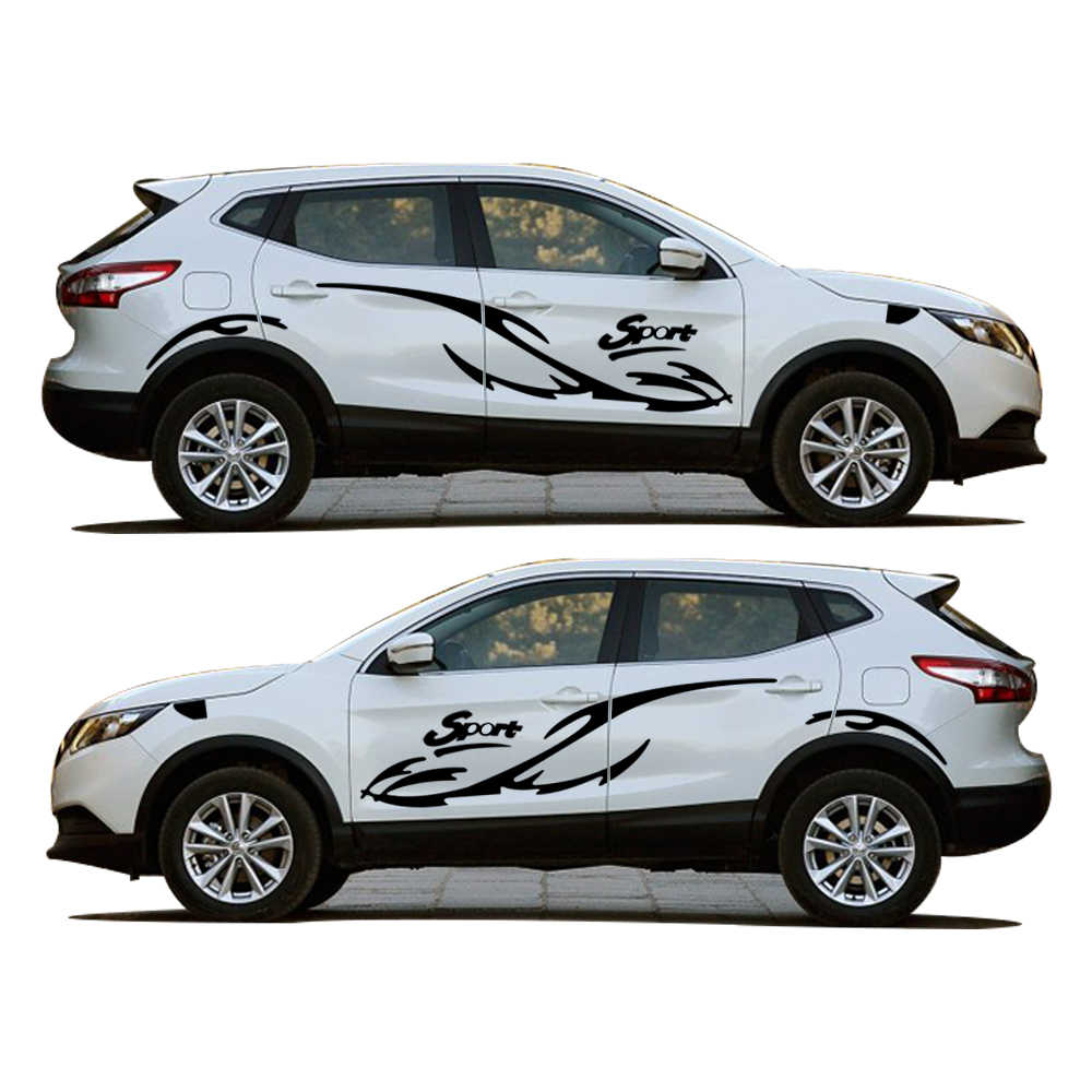 High quality car styling creative sticker for nissan qashqai sport waterproof car whole body pvc decal