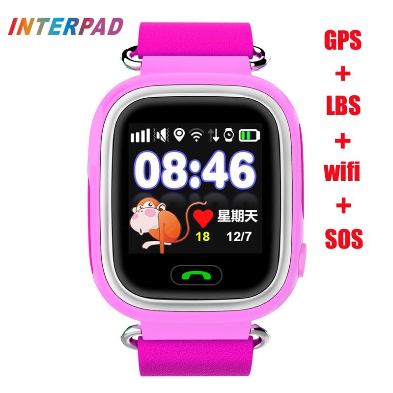 New Interpad IT09 Smart Watch Children Kids GPS Tracker Smart Baby Watch Anti-Lost Child Guard For iOS Android PK q750 q90 q50<br><br>Aliexpress