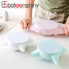 BalleenShiny Reusable Silicone Food Wraps Seal Cover Stretch Useful Food Fresh Keeping Cling Film Refrigerator Kitchen Tools(China)
