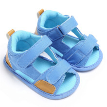 2017 Hot Selling New Fashion Summer Comfy Kids Shoes Children Crib Shoes Canvas Infant Kids Baby Boys Soft Sole Shoes on sale(China)