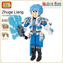 LOZ Diamond Blocks Zhuge Liang Action Figure Romance of the Three Kingdoms Dynasty Warriors Building Assembly Toy Brick DIY 9767(China)