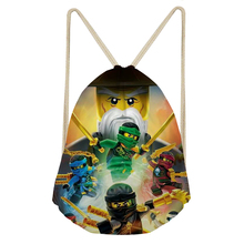 FORUDESIGNS Ninjago School Bags Boys Multifunction Schoolbag Backpack Kids Cartoon Drawstring Bags Teenagers Mochilas