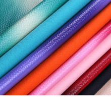 free shipping 0.9mm thick Gradual change color synthetic PU leather/ imitation leather for handbag material/ shoes fabric