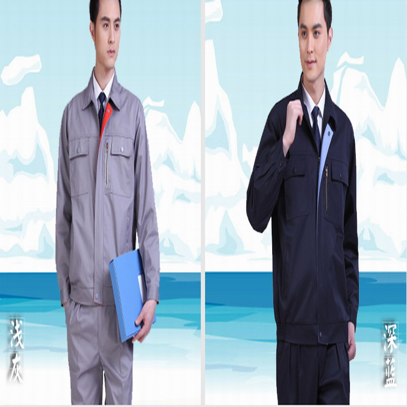 Work wear spring and autumn long-sleeve gas station anti-static work wear set state grid male<br><br>Aliexpress