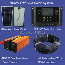 free shipping 500w solar home system/whole house solar power system 500w factory quality promise(China)