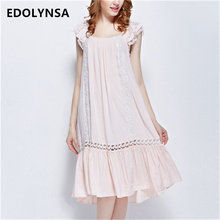 2017 Summer Sleep Lounge Long Nightgown With Lace Home Dress Pink Princess Nightgowns Satin Sleepwear Sexy Nightdress #P120(China)