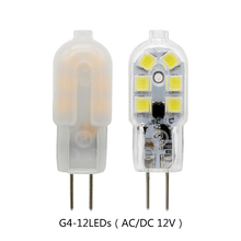 10pcs/lot 3W 12LEDs SMD 2835 G4 LED Lamp AC DC 12V Bulb Light Replace 20W 30W Halogen Lamp For Chandeliers Warm Cool White(China)