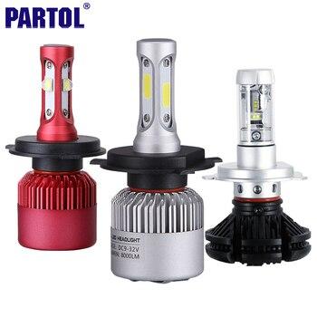 Partol H4 HB2 9003 Voiture LED Phare Ampoules 80 W 72 W 50 W CREE puces Tout en un LED Projecteur Haute Faible Faisceau 3000 K 6500 K 8000 K 12 V