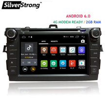 Free shipping Android6.0 2GB DDR3 RAM Car DVD for Ttoyota Corolla e150 Altis 2007-2011 4G modem DAB+ radio gps 2 din indash
