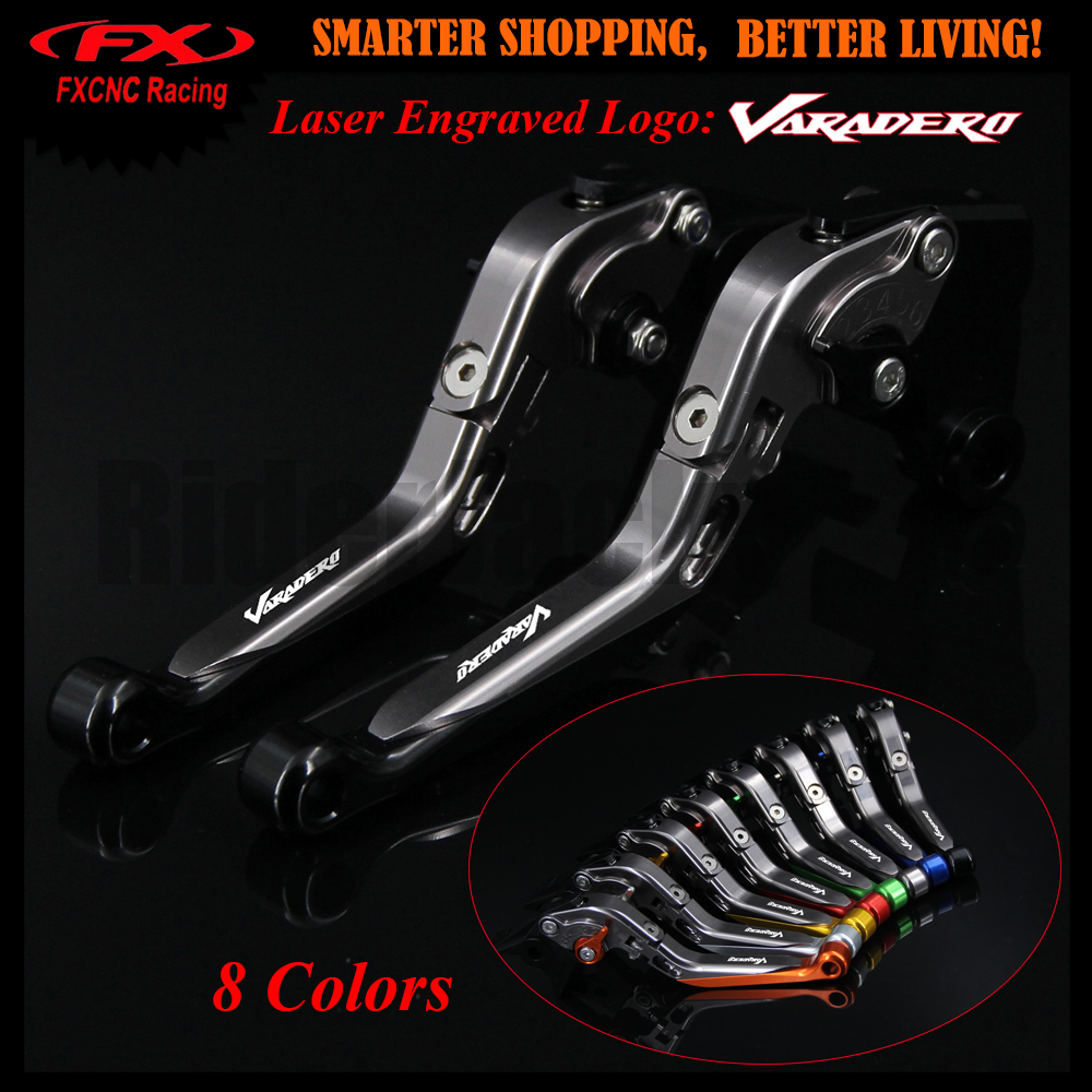 8 Color Black+Titanium For Honda XL1000 Varadero/ABS 1999-2013 2009 2010 2011 2012 CNC Adjustable Motorcycle Brake Clutch Levers<br>