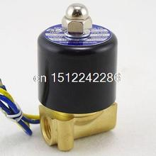 "Methane Gas Fuel Propane 2 Ways NC Solenoid Valve 1/4"" BSPP Connection 220VAC(China)"