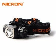 NICRON Classical Super Brightness Aluminum Head Lamp 380Lm 150M Waterproof Flashlight Headlight Torch Lighting Outdoor Use H20