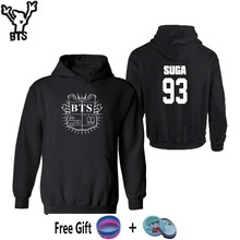 BTS Hot Sale Bangtan Boys Fashion Design Long Sleeve Women Hoodies Sweatshirts SUGA 93 BTS Black Sweatshirt Women Brand XXS 4XL