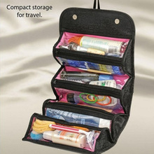 Great Hot Sale Nylon Waterproof Makeup Bag Fashion Cosmetic Cases Box Lady Cosmetic Bags Travel Bag Toiletries Ladies