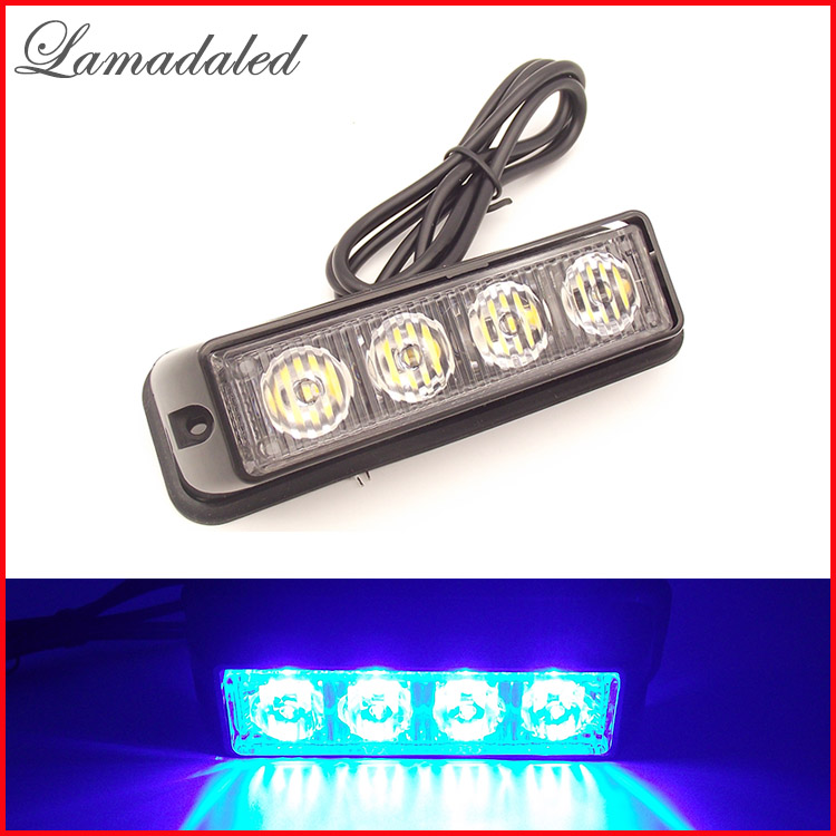 4led car strobe lights vehicle strobe lamp auto warning lights led truck side lights yacht side lamp RED BLUE WHITE AMBER GREEN(China)