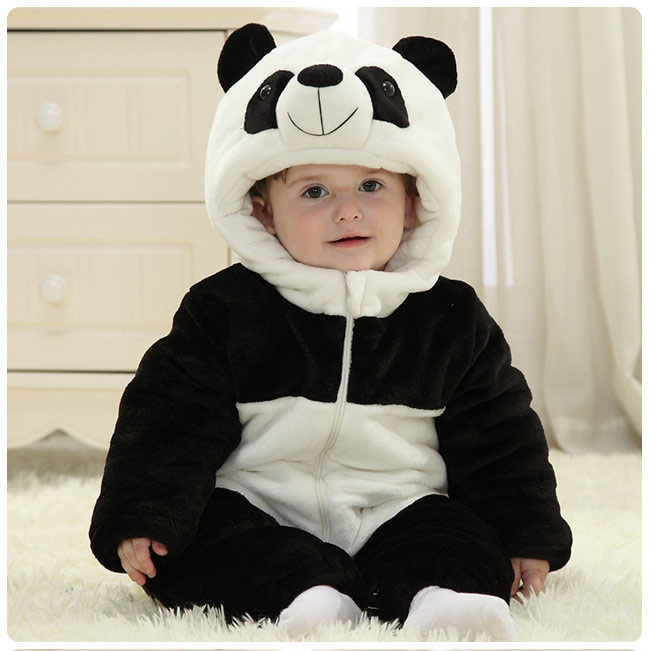 baby boy clothes autumn winter panda outfits thicken cotton lining infant halloween costume<br><br>Aliexpress