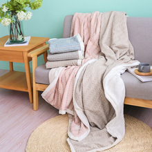 Buy Jacquard Stripe Floral Cotton Cloth Surface Flannel Blanket Freelove, Winter Warm, Sofa, Floor, Office NAP, 1 piece for $29.99 in AliExpress store