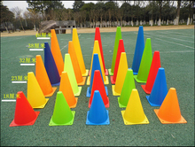 A variety of hot soccer flag barrel signpost barricades cone obstacle training football training equipment size 18cm-32cm