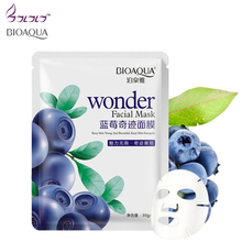 bioaqua blueberry facial mask sheet whitening skin lifting face masks face care anti aging wrinkle pig nose masker beauty agless
