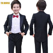 Boys Suits For Weddings 95CM-165CM Kids Prom Suits Wedding Clothes for Boys Children Clothing Sets Boy Tuexdo Boys Dresses(China)