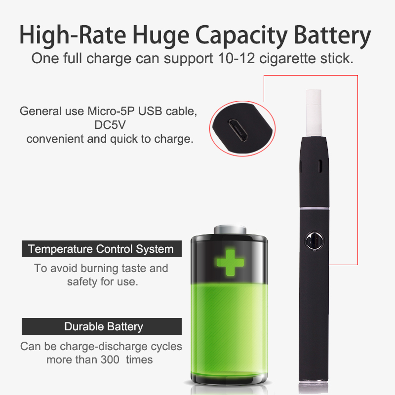 New Kecig 2.0 Plus Electronic Cigarette kit dry cigarette vaporizer 650mah battery USB charger lightweight e-cigarettes