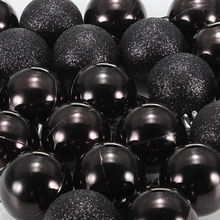 SZS Hot 24Pcs Chic Christmas Baubles Tree Plain Glitter XMAS Ornament Ball Decoration Black
