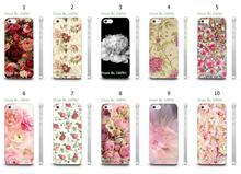 Mobile Phone Cases Wholesale 10pcs/lot Peony Flowers Natural Design Protective White Hard Case For Iphone4 4S