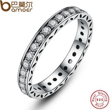 BAMOER Оригинальные 100% Стерлингового Серебра 925 Аутентичные Роскошные Ювелирные Изделия Для Женщин Свадьба PA7119