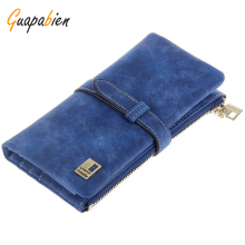 Guapabien Ladies Portfolio Women Mini Wallets Zipper Short Women Leather Wallet Fold Wristlet Purse Holder Female Handbag