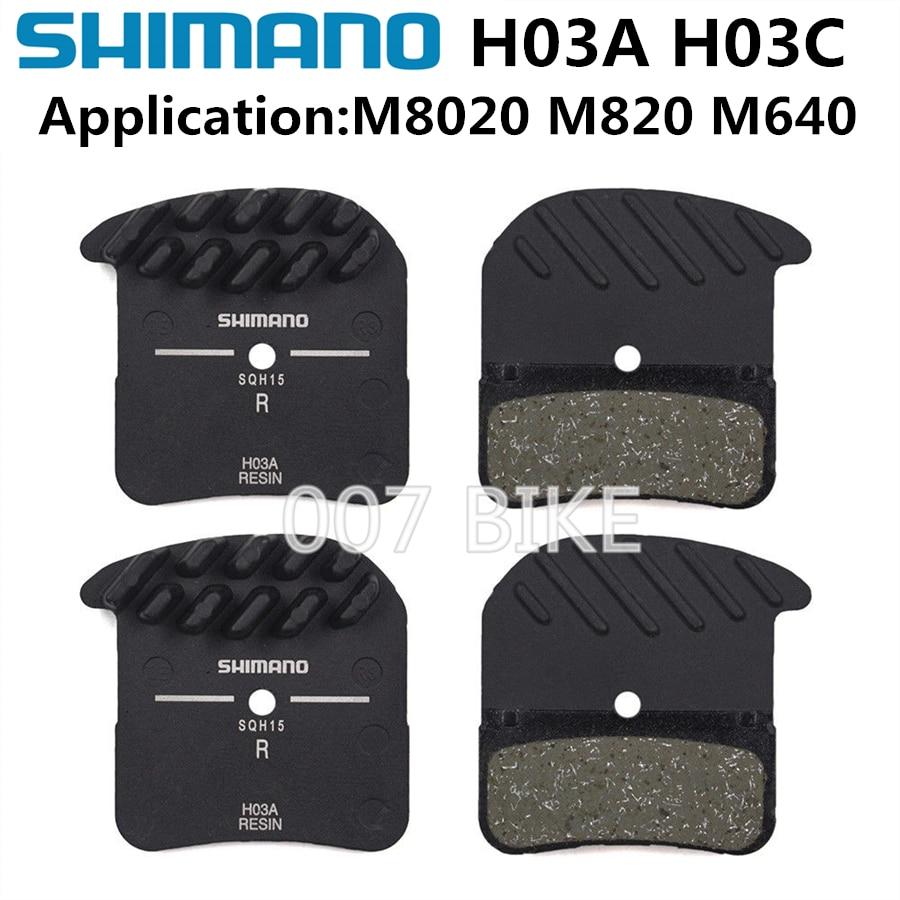 Coppia pastiglie ORIGINALI Shimano H03A resin IceTec x M820-M640-NEW Saint//Zee