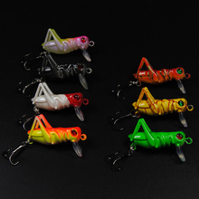 NEW 3g Plastic Grasshopper Lure Artificial Grass Hopper Baits Green Brown Black Color(China)