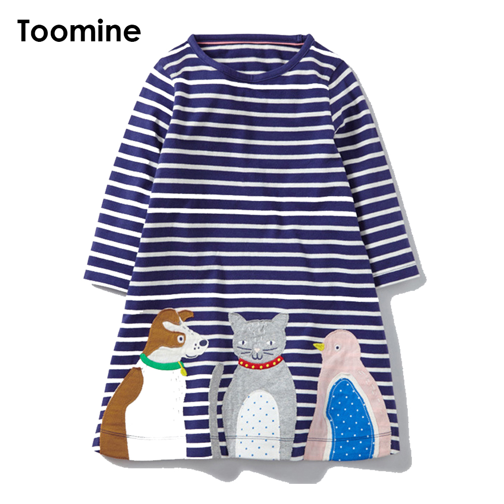 Toomine Lovely Girls Cotton Dress Long Sleeve Plaid Cotton Dresses For Girls 6 Years For Autumn Baby Girls Dress Clothes<br>
