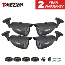 Tmezon HD 800TVL 1200TVL Camera Bullet CCTV Security Surveillance Camera Outdoor Auto IR-Cut Night Vision 4pcs Set with Cable(China)