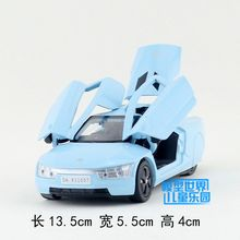 Gift for baby 1pc 1:32 13.5cm delicacy Super star Volkswagen XL1 concept Car Acousto-optic alloy model home decoration boy toy