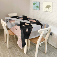 2017New Nordic Rural Geometry Simple modern Pattern Home decor Table Cloth Dining Tablecloth Coffee Restaurant Cloth Cover(China)