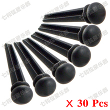 Free shipping 30 Pcs Black Ebony Guitar Bridge Pins For Flok Acoustic guitar (Not Inlaid any dot)