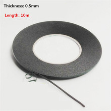 0.5mm Thick Double Sided Sticky Black Foam Sponge Tape for Phone Screen Repair Dust Proof Seal  Car Decoration Sealed Paste