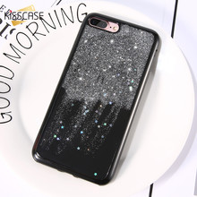 KISSCASE Cute Glitter Cover For iphone 7 6 6s Plus Case Sequins Glitter Lovely Stars Ultra Thin Soft TPU Coque For iphone 6 Case