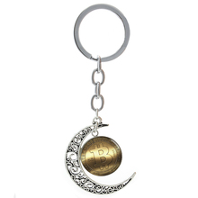Trendy Golden BitCoin Camera Lens picture moon keychain virtual internet electronic currency symbol Dragon Eye key chains T137