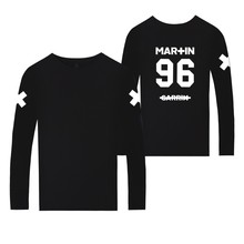 Martin Garrix T-shirt Nederland Music DJ GRX Spring Long Sleeve Shirt For Boys Fashion Design White T-shirt Men Cotton Plus Size(China)