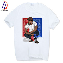 Hecoolba 2017 Men Print Kendrick Lamar T-shirt Short Sleeve O-Neck Summer American rapper Music theme Casual T shirt Swag HCP554