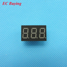 "5pcs 3 bit 3bit Digital Tube Common Anode Positive Digital Tube 0.36"" 0.36in. Red LED Display 7 Segment Digit 7 Segment(China)"